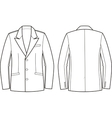 Men business jacket vector image