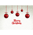 Merry Christmas red Balls xmas decoration with vector image vector image
