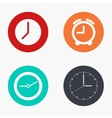 Modern clock colorful icons set