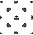 mosque pattern seamless black vector image vector image