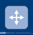 move arrows vector image