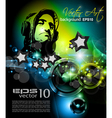 Music Club Poster vector image vector image