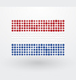 netherlands flag made up of small dots vector image vector image