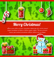 new year christmas postcard vector image vector image