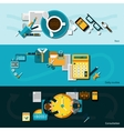 Office Banner Set vector image vector image