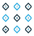 person icons colored set with greybeard rejoicing vector image