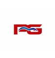 PG letter logo vector image vector image