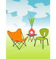 Retro outdoor patio vector | Price: 1 Credit (USD $1)