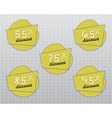 Sale stickers and labels with Sale up to 55 - 95 vector image