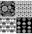 seamless diamonds set 1 vector image vector image