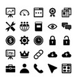 seo and digital marketing glyph icons 5 vector image vector image