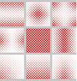 Set of red heart pattern designs vector image vector image