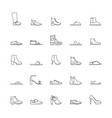 shoes outline icons vector image vector image