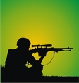 sniper silhouette vector image