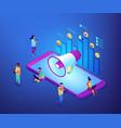 social media marketing isometric 3d concept vector image