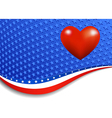 Stars and Stripes Landscape with Heart vector image vector image