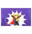 superhero fantastic animal in costume and mask vector image