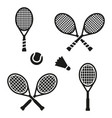 tennis racket sign icon sport symbol vector image vector image