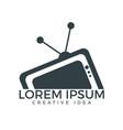 tv media logo design vector image