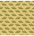 Vintage cartoon crocodiles pattern vector image