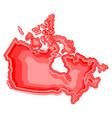 watercolor map of canada vector image vector image