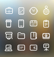 White web interface icons clip-art vector image vector image