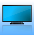 Wide computer monitor vector image