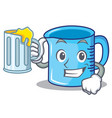 with juice measuring cup character cartoon vector image