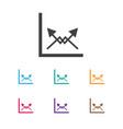 of logical symbol on diagram vector image