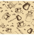 Seamless coffee pattern for design vector image