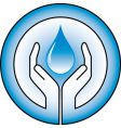 water drops and hands vector image