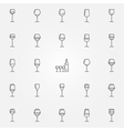 Wine glasses icons set vector image