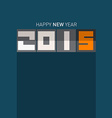 2015 - Happy New Year on Blue Background vector image