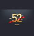 52nd year anniversary background vector image vector image