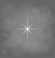 abstract star magic light sky bubble blur gray vector image vector image