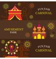 Amusement Park Carnival Fun Fair Banner vector image vector image