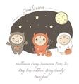 baby halloween vector image vector image