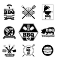 Barbecue logo set vector image vector image