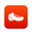 baseball cleat icon digital red vector image vector image