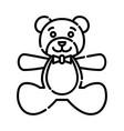 bateddy bear icon design clip art line icon vector image vector image