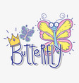 beauty butterflies insects animals with crown vector image vector image