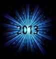 blue abstract happy new year twenty thirteen vector image vector image