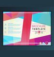 brochure flyer design template vector image vector image