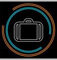 business portfolio office suitcase vector image vector image