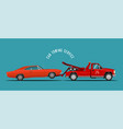 car towing truck service vector image vector image