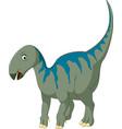 cartoon iguanodon vector image vector image