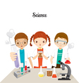 Children In Science Class Experimenting vector image vector image