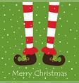 christmas cartoon elf legs isolated on white vector image vector image