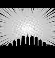 city skyline in comic book cartoon style vector image vector image