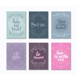 collection romantic and love cards with hand vector image vector image